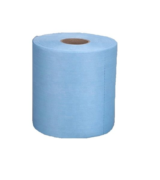 Disposable-industrial-blue-wipes-roll-industrial-nonwoven